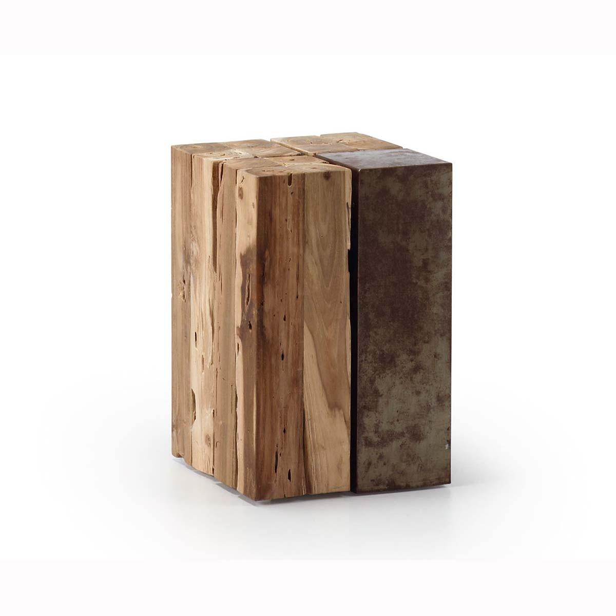 Ceppo Di Legno Tavolino ognak tavolino legno e ferro