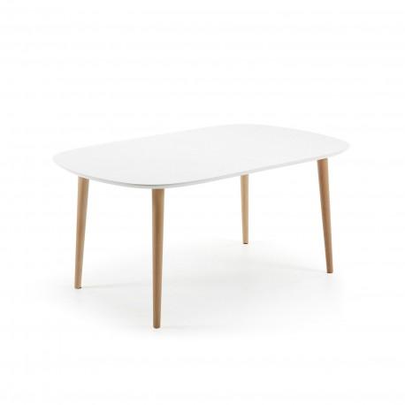 Oakland tavolo ovale allungabile 160/260