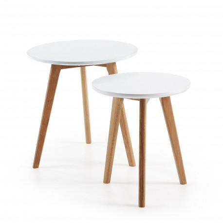 Brick set 2 tavolini piano bianco