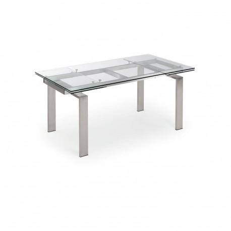 Corona tavolo allungabile in vetro
