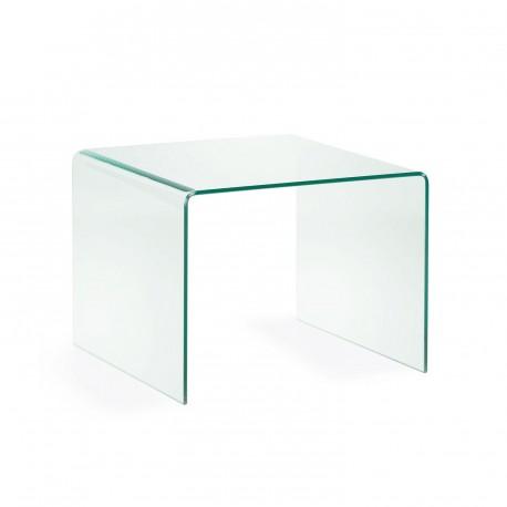 Burano tavolino quadrato in vetro