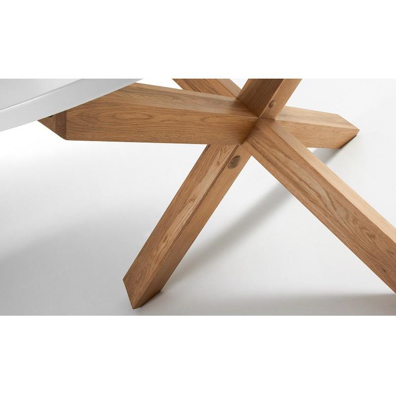 Nori tavolo rotondo bianco e legno - Tavolo bianco e legno ...