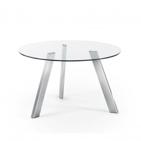 Tavoli righetti mobili for Tavolo rotondo vetro