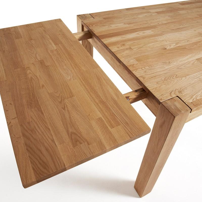 Indra tavolo allungabile in rovere naturale 140x90