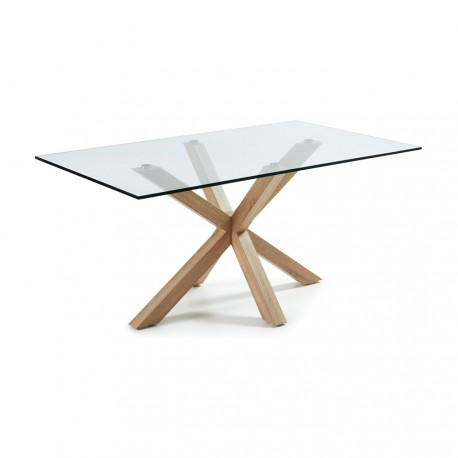 Arya tavolo rettangolare base legno naturale