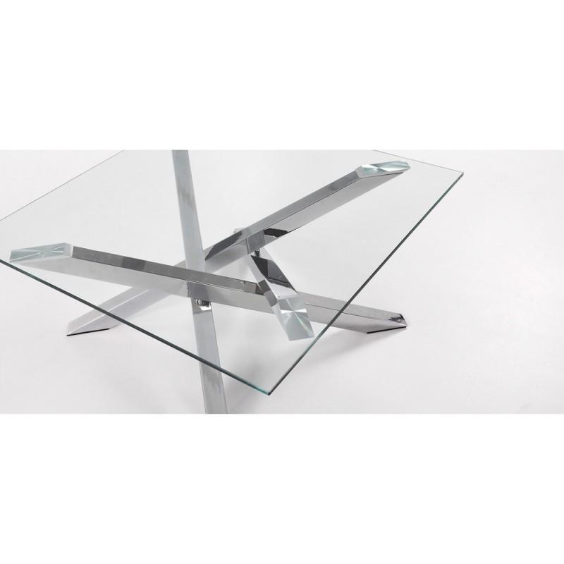 Mikado tavolino in acciaio e vetro righetti mobili for Scrivanie in vetro e acciaio