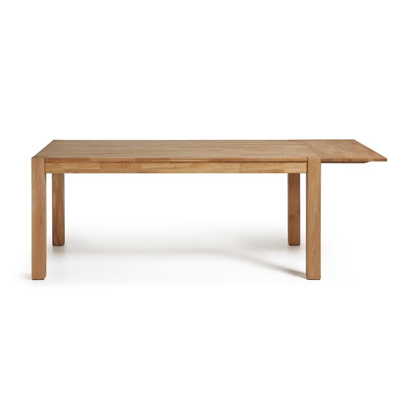 Indra tavolo allungabile in rovere naturale 120x75 - Tavolo in rovere naturale ...