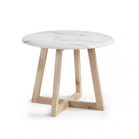 Hella tavolino in legno e marmo