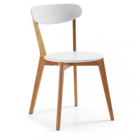 Luana sedia bianca e rovere