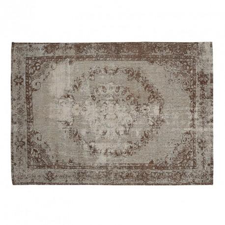 Pol tappeto anticato marrone