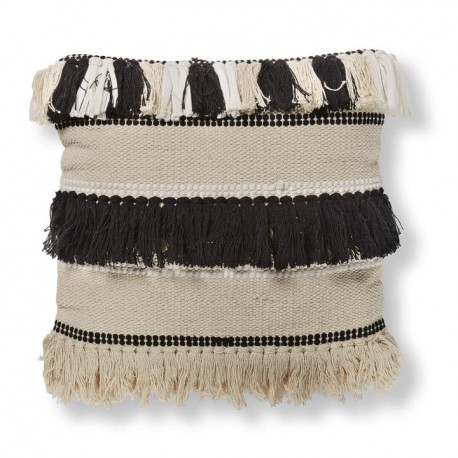 Fosse fodera cuscino cotone bianco e nero