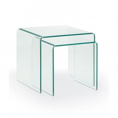 Burano set tavolini in vetro righetti mobili for Tavolini vetro